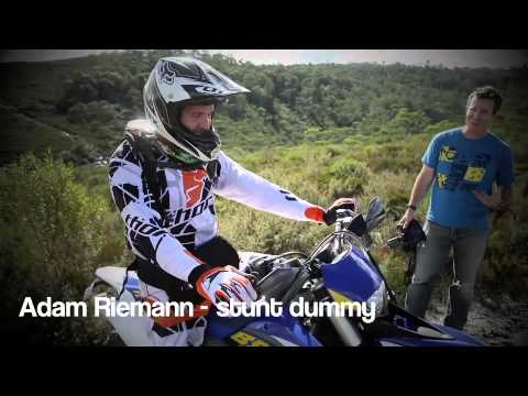 Husaberg FE 570 cover shoot with Adam Riemann