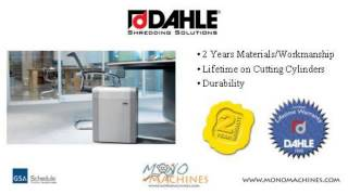 Dahle 20314 Cross Cut Shredder - Warranty