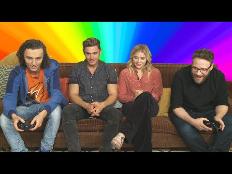 GAMING WITH ZAC EFRON, SETH ROGEN & CHLOË GRACE MORETZ!
