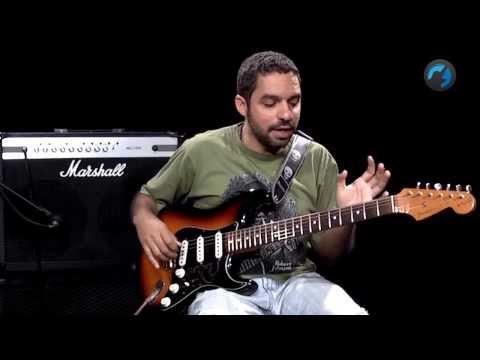 Base Simples de Blues Iniciante como tocar aula de guitarra