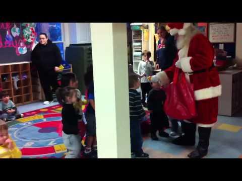 Foothill preschool Santa visit p1
