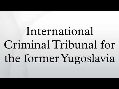 international criminal tribunal for the former The international criminal tribunal for the former yugoslavia (icty), which is the focus of this book, was established in 1993 and is due to complete its trials by 2011.