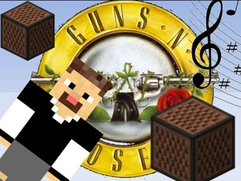 Minecraft Blocos Musicais : Guns n Roses - Sweet Child o Mine Intro