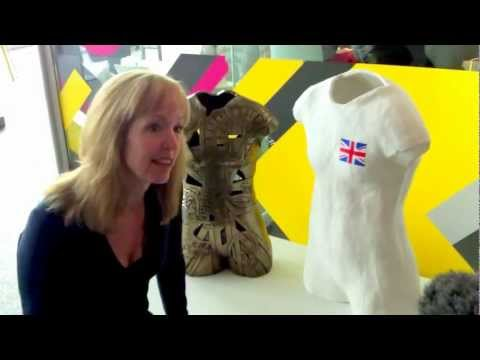 BBC Interview @Museum Liverpool re #Beth Tweddle sculpture Press Event 9