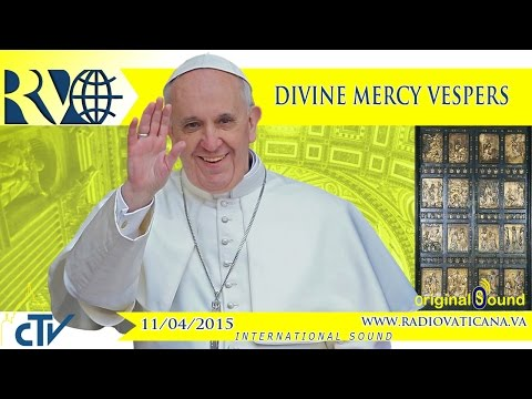 Celebration Of First Vespers Of Divine Mercy Sunday - 2015.04.11 video