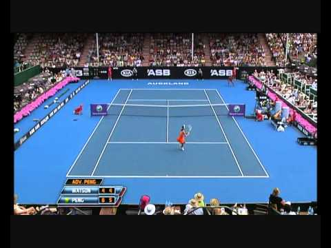 Heather Watson vs Shuai Peng Auckland 2011 - Incredible Match Point!
