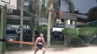 Jose Aldo football training