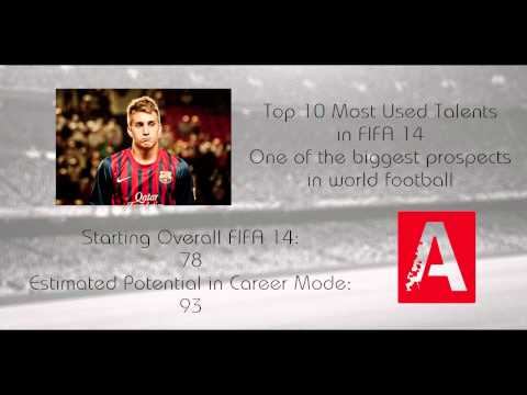 FIFA 14 Career Mode Best Young Top Talents - Gerard Deulofeu