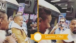 """[Full Performance] Le'Andria Johnson & Jamie Foxx Sing """"No Weapon"""" During Grammy Weekend!"""