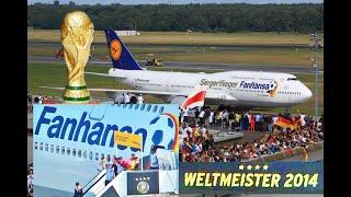Ankunft der Weltmeister in Berlin Tegel