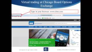 Virtual trading account registration at Chicago Board Option Exchange (CBOE)