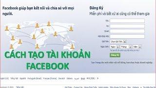 Hướng Dẫn Cách Tạo Tài Khoản Facebook