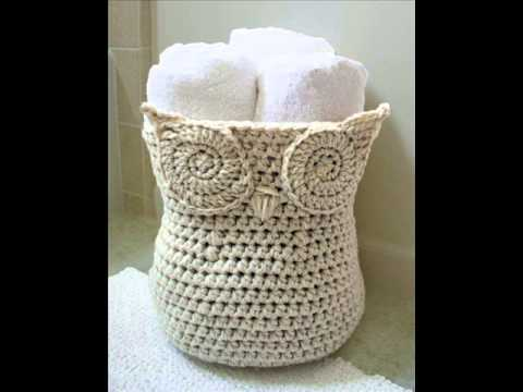 Free Crochet Patterns Owl Basket : Cool Owl Basket Crochet Pattern Presentation - YouTube