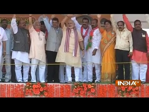 Modi on Mission Maharashtra takes a potshot at NCP chief Sharad Pawar - India TV