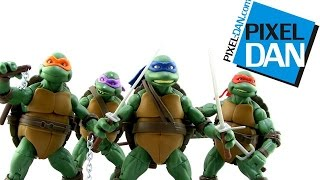 Teenage Mutant Ninja Turtles Classic Collection 1990 Movie Figures Video Review