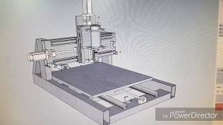 Cnc Router DIY, Steel frame, fixed gantry, homemade 3D plan
