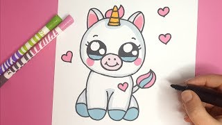 HOW TO DRAW A BABY UNICORN EASY STEP BY STEP