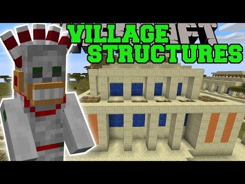 Minecraft: VILLAGE STRUCTURES (DUNGEONS, EPIC TRAPS, NEW VILLAGES, & MORE!) Mod Showcase