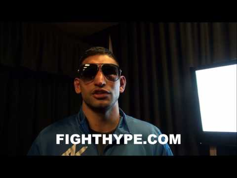 AMIR KHAN DISCUSSES PERFORMANCE RIGHT AFTER WIN OVER LUIS COLLAZO: