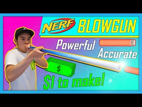 🙌 The Most POWERFUL & ACCURATE Nerf Blowgun! $1 to make! 🙌