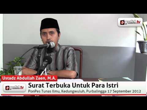 Tanya Jawab Agama: Hukum Mengungkit-ungkit Pemberian - Ustadz Abdullah Zaen, M.A.