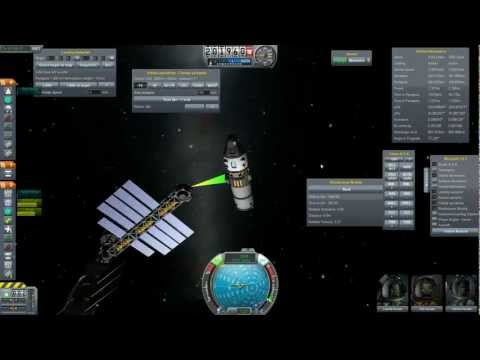 Docking a Ship to my Spacestation [Erkle docking mod, KSP 0.17]