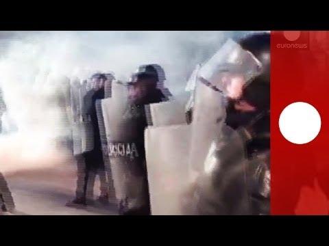 Amateur video: Sarajevo protesters pelt cops with missiles as violent clashes erupt across Bosnia