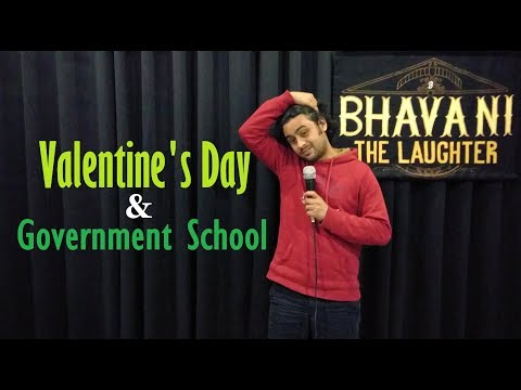 Valentines Day  Government School - Stand up comedy by Bhavani Shankar