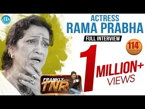 Actress Rama Prabha Exclusive Interview  | Frankly With TNR #114 | Talking Movies