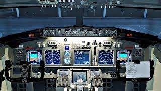 Boeing 737 Full Flight Sim | Flight Heathrow-Amsterdam | Cockpit View & Comms | Takeoff to Landing!