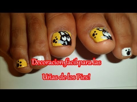 Decoracion facil de u as de los pies nail art decor youtube for Decoracion de unas simple
