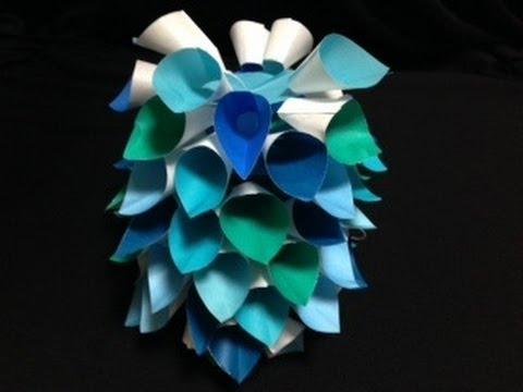 七夕かざり クリスマス くす玉 ... : 七夕飾り 折り紙 折り方 : 七夕