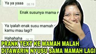 Prank Text Mamah Pake Lagu Enak Susunya Mamah Faiha Fail Gara Gara Duit Mamah Ilang
