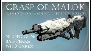 Destiny - Grasp of Malok - Omnigul Loot Pulse Rifle - Year 3 PVP Gameplay Review
