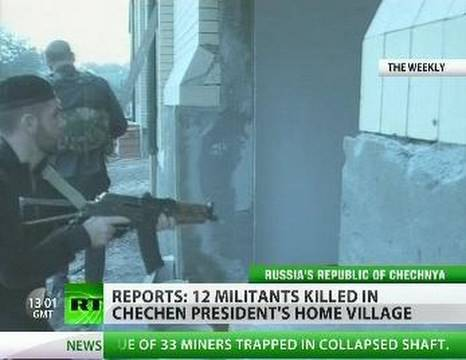 Gang raids Chechen chief s home village as month sees 40 militants killed