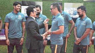Indian Cricket Team Support Sachin Tendulkar Movie - MS Dhoni, Yuvraj Singh, Shikhar Dhawan
