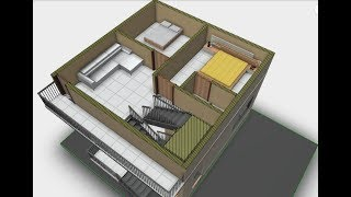30X40 North face Duplex house plan in west face site || 3 Bedrooms || Car parking || Garden