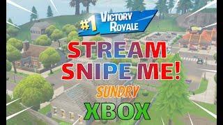🔴 Come Stream Snipe Me | Xbox One | Fortnite LIVE Stream | 200 + Wins