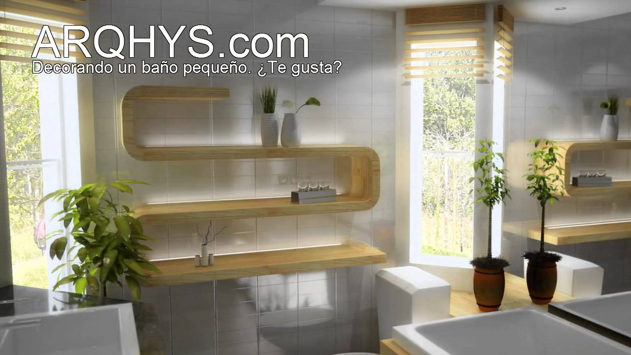 Ba os peque os y elegantes youtube for Decoracion de espacios pequenos modernos