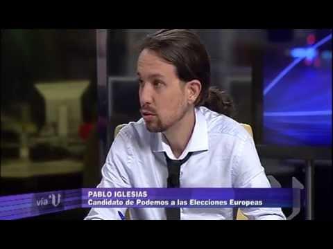 Entrevista a Pablo Iglesias en Vía V (V Televisión)