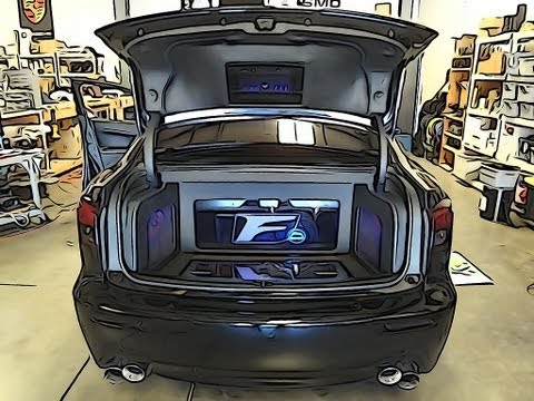 Lexus ISF 7,000 Watt Sound System Install Video 6 - It Lives! RF 3sixty.3 OEM Integration