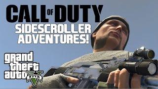Call of Duty Sidescroller Adventures! | GTAV Machinima