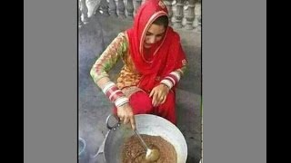 Sapna Haryanvi Dancer Cooking Halwa For Family