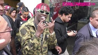 Lil Yachty Is Mobbed By Fans While Walking From Mel's Diner To Jimmy Kimmel Live! Studios 5.25.17