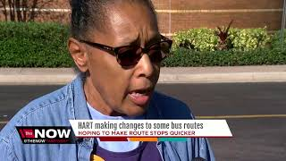 HART makes changes to some bus routes to reduce wait times and provide faster connections
