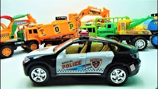 Super police car toys, truck toys and car toys for kids