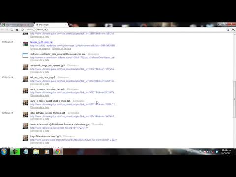 Como buscar y borrar la lista de descargas