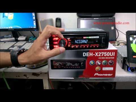Reviewวิทยุเครื่องเสียงติดรถยนต์ PIONEER DEH-X2750UI CAR AUDIO 2015