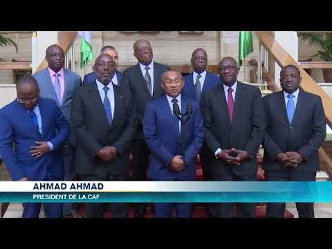 La CAF réitère sa confiance à la Côte d'Ivoire pour l'organisation de la CAN 2021.