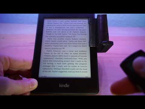 Genius Remote-Controlled Machine Turns Kindle Pages